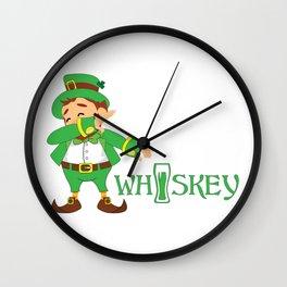 St. Patrick's Day Irish Whiskey Wall Clock