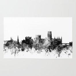 Durham England Skyline Cityscape Rug