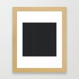 Black Linen Sterling Luna Song Pinstripe Framed Art Print