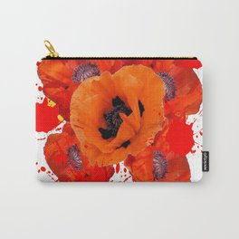 ORANGE POPPIES WATERCOLOR SPLATTER Carry-All Pouch