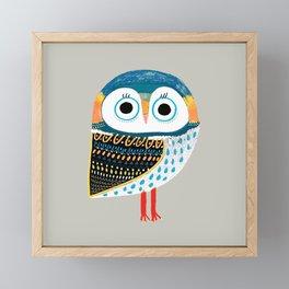cutest owl Framed Mini Art Print