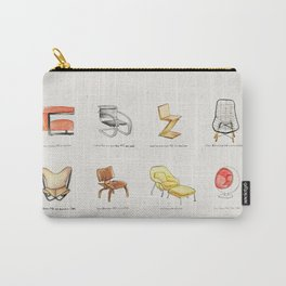 Post Modern Watercolor Chairs Carry-All Pouch