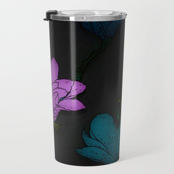 Fun With Coloring Floral Print 2 Travel Mug