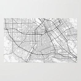 Minimal City Maps - Map Of San Jose, California, United States Rug