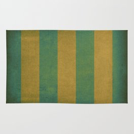 Vintage green striped deck chair cover Rug