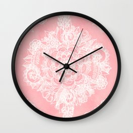 Marshmallow Lace Wall Clock