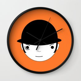 Clocky orange Wall Clock