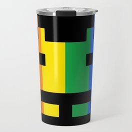 Rainbow Space Invader Travel Mug