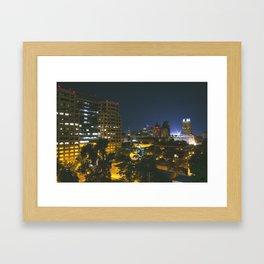 rooftops - sacramento, ca Framed Art Print