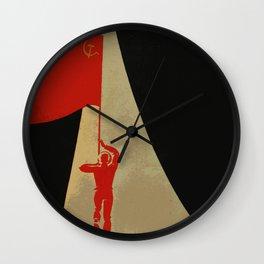all the way up to the stars - soviet union propaganda Wall Clock