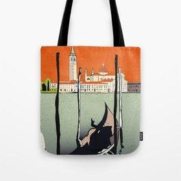 Venice gondola at sundown, Venedig, Venezia Tote Bag