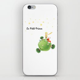 The Little Prince, with the fox and planet iPhone Skin