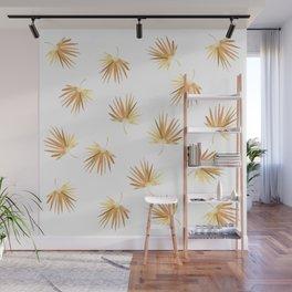 Golden Palm Leaf Wall Mural