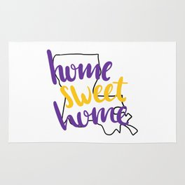 Home Sweet Home LSU Rug
