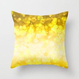 Golden pattern Throw Pillow
