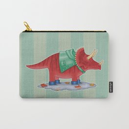 Triceratops in Boots Carry-All Pouch