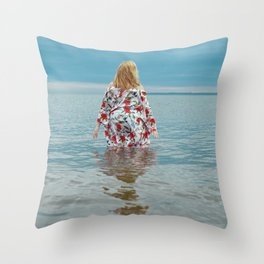 Woman in the Water Throw Pillow