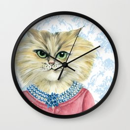 Vernonica Dressed for Luncheon Wall Clock
