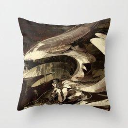 curl angel Throw Pillow