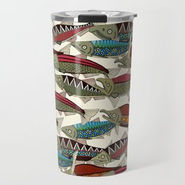 Alaskan salmon pearl Travel Mug