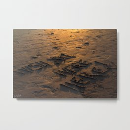 WISH YOU WERE HERE IN THE SAND Metal Print