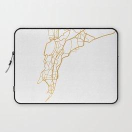 MUMBAI INDIA CITY STREET MAP ART Laptop Sleeve