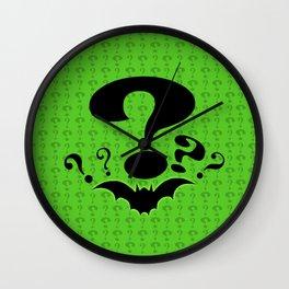 Riddler Green Wall Clock