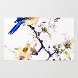 Bluebird and Dogwwod Rug