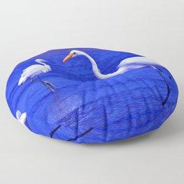 ROYAL BLUE GARZA BIRD Floor Pillow