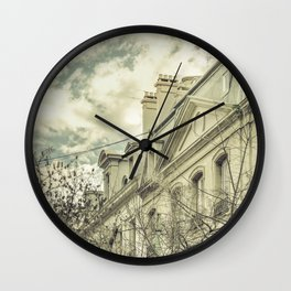 Neoclassical Style Buildings in Buenos Aires, Argentina Wall Clock
