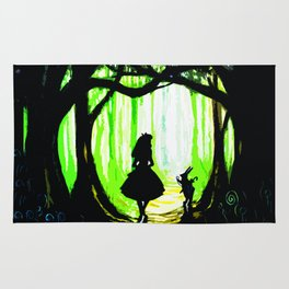 alice and rabbits Rug
