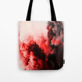In Pain - Red And Black Abstract Tote Bag