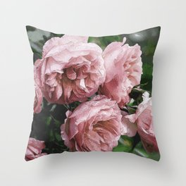 Pale pink Rose Sandi Throw Pillow