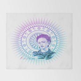 Frida Kahlo Feminist Bravery Throw Blanket