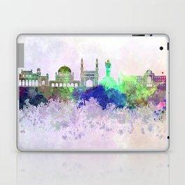 Hyderabad skyline in watercolor background Laptop & iPad Skin