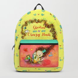 Greña ~ Crazy Hair Orange Backpack