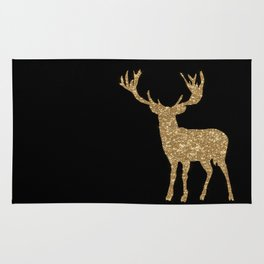 Sparkling golden deer - Wild Animal Animals Rug