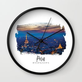 Paris City of lights Wall Clock