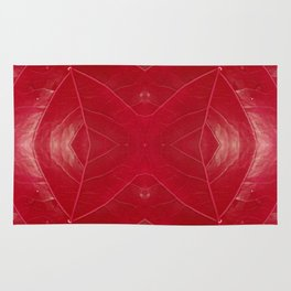 Warm Red Leatherette Rug