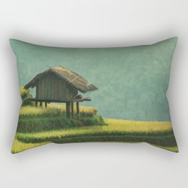 CHINA Travel Poster Vintage Style Rectangular Pillow