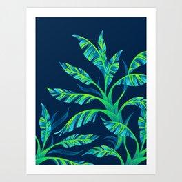 Paradise Leaves - Green Art Print