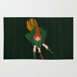green witch Rug