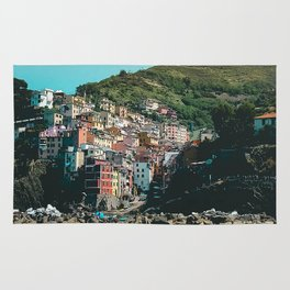Colored Houses of Italy Rug