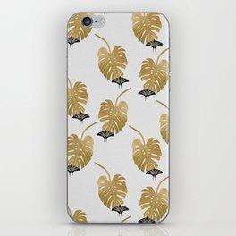Butterfly & Monstera iPhone Skin