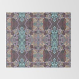 Tibetan Inspired Meditation Floral Print Throw Blanket