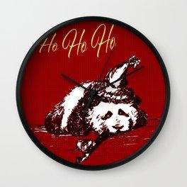 Christmas Panda Wall Clock
