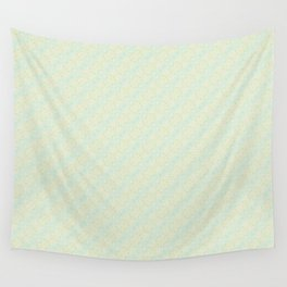 Blue Yellow and Green Pattern 1 Wall Tapestry