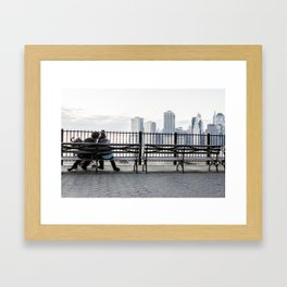 Love In New York City Framed Art Print