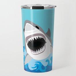 Great White Shark Attack Travel Mug