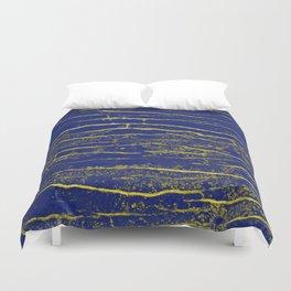 Stone Blue Yellow Duvet Cover